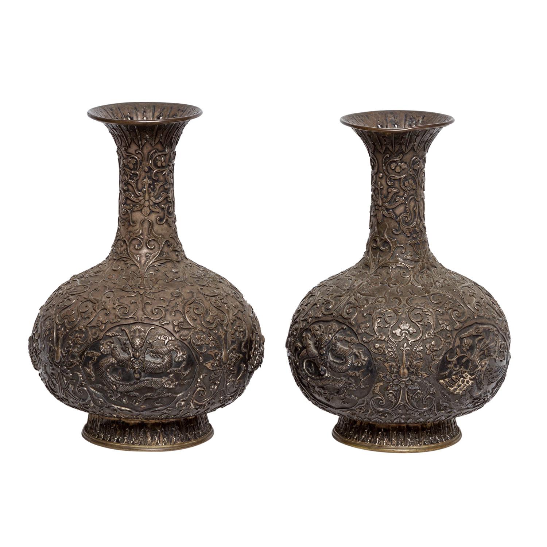 Paar Vasen aus Silber