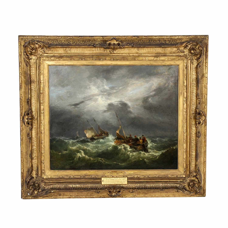 """""""Fischerboote im Sturm auf wogender See"""" von William Turner"""