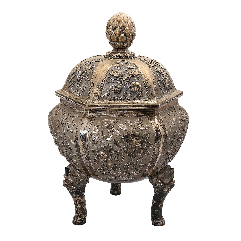 Seltenes Prunkgefäß aus Silber — CHINA um 1900