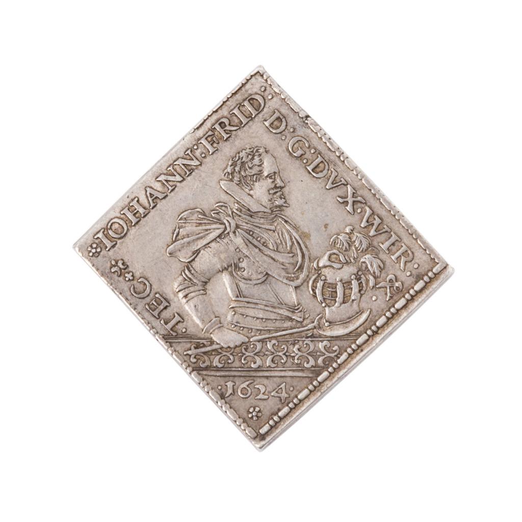 Silberne Medaille in Klippenform 1624